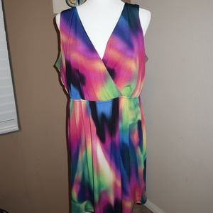 EUC Emma & Michelle Multi-Tone Mini Dress - L